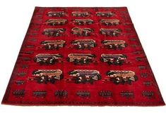 """One-of-a-Kind Shartlesville Hand-Knotted 6'7\"""" x 9'3\"""" Wool Red Area Rug Isabelline #Sponsored , #AD, #Shartlesville#Kind#Knotted Office Supplies List, Knots, Area Rugs, Presents, Wool, Holiday Decor, Unique, Red, Pattern"""