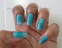 My Glitter Gradient for the Nail art challenge, week one.    from The Book of Madness