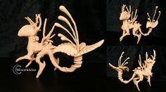 Deerdragon I. Sculpture made by wesenwaechter.