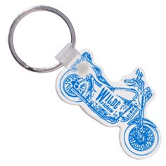 Steer your company's logo by the handlebars with this custom shaped key tag!