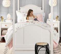 Madeline Canopy Bed #pbkids