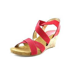Karen Scott Donya Womens Wedge Sandals Shoes Red Size 85 *** Want additional info? Click on the image. (This is an affiliate link) #WomensPlatformsandWedgesSandals