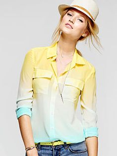 yellow/blue ombre