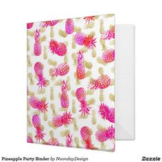 Pineapple Party Binder