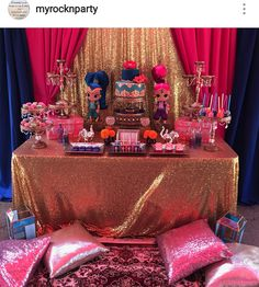 Shimmer and Shine Birthday Party Dessert Table and Decor