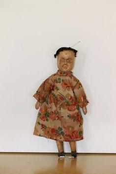 RARE Antique Wood Kentucky Poppet Doll 2