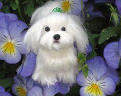 Custom Pet Portrait / Needle Felted Dog / Handmade Animal Sculpture / Lifelike / Poseable / the Ultimate Gift