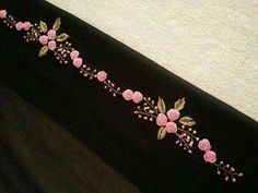 Wonderful Ribbon Embroidery Flowers by Hand Ideas. Enchanting Ribbon Embroidery Flowers by Hand Ideas. Hand Work Embroidery, Embroidery Flowers Pattern, Silk Ribbon Embroidery, Crewel Embroidery, Hand Embroidery Designs, Cross Stitch Embroidery, Embroidery Patterns, Embroidery Blanks, Embroidery Shop