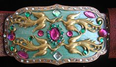 """Western Floral Belt Buckle Set 1-1//2/"""" 1881-02 by Tandy Leather"""