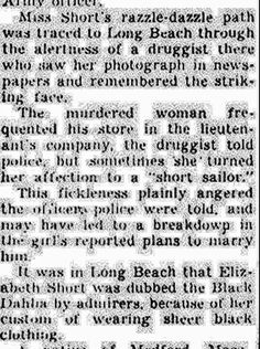 Elizabeth Short | Newspaper