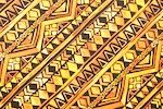 Aztec Print Spandex (Black/Orange/Multi)