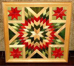 Arte de pared de madera edredón edredón de por TreeLineWoodProducts