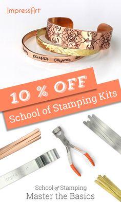 10% Off School of Stamping Kits | ImpressArt June Sale