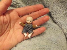 Miniature Handmade Mini Baby Boy Sculpt OOAK Dollhouse Art Doll House 1 12th | eBay