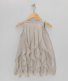 Silver Cascade Dress - Toddler by Paulinie on #zulily #cutiestyle