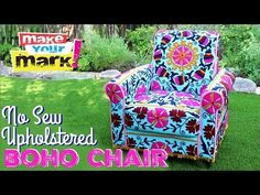 He Shows Us A Quick And Easy Way To Reupholster An Old Chair Into Something Amazing! - DIY Joy