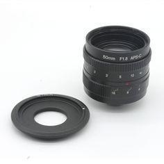 50mm f1.8 C mount CCTV Lens APS-C sensor camera lenses with C-NEX adapter ring For Sony NEX Camera NEX-6,NEX-5R,NEX-F3 //Price: $62.27//     #gadgets