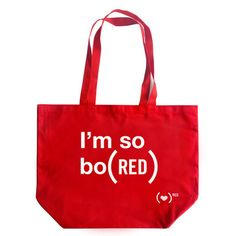 Fab.com | My design inspiration: I'm So Bo(RED) Tote Red on Fab.