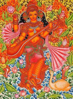 Saraswati Keral Mural
