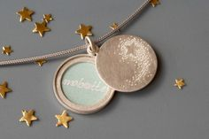 Picture  Locket  Sterling silver shooting star handmade by mabotte