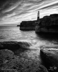 Rocks, Waves and a Lighthouse by John Dunne on 500px