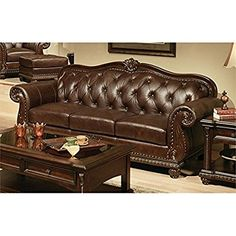 Acme Furniture Anondale 15030 94 Sofa With On Tufted Design Decorative Nail Head Trim Intricate