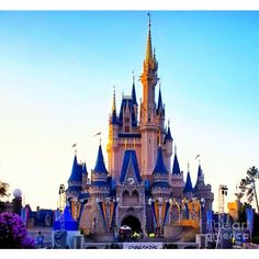 (5) the-castle-at-sunset-walt-disney-world-thomas-woolworth.jpg... ❤ liked on Polyvore featuring disney