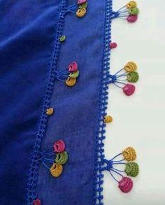 Crochet Borders, Crochet Stitches, Creative Embroidery, Hand Embroidery, Crochet Flowers, Crochet Lace, Crochet Crafts, Crochet Projects, Crochet Designs