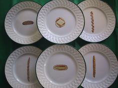 le pain/bread plates Fragile, Pain, Creations, Plates, Bread, Tableware, Licence Plates, Dishes, Dinnerware