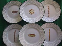 le pain/bread plates