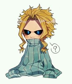 All Might, cute, chibi, text, sweater; My Hero Academia