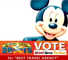 Vote for Michael Mouse Vacations for Best Travel Agency!