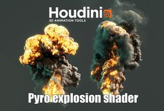 Tutorial Pyro explosion shader #sidefx #Houdini