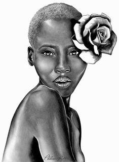 Flower in hair art