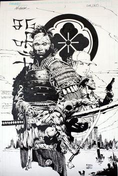Samurai Swords real and movie,Samurai Armour and Artwork. Fantasy Kunst, Fantasy Art, Comic Books Art, Comic Art, Samourai Tattoo, Samurai Drawing, Japanese Warrior, Art Asiatique, Samurai Armor