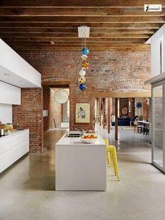 Modern Interior Design for Heritage Building White Kitchen Interior