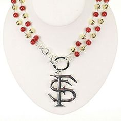 NCAA Florida State Seminoles Garnet and Gold Beaded Logo Necklace J and D Jewelry and More http://www.amazon.com/dp/B00SEZFL9S/ref=cm_sw_r_pi_dp_Dk5wwb0G7R4QC