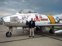 John Glenn and his F-86