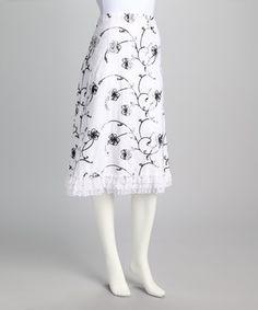 This Zashi White Lace Ruffle Skirt by Zashi is perfect! #zulilyfinds