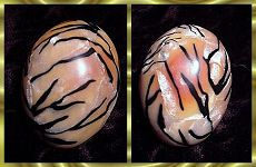 """How to make a great tiger cane & cover an egg with the veneer!   Sunni's tutorial """"How I Blow Eggs"""" is under my 'Other Crafty Tutorials'."""