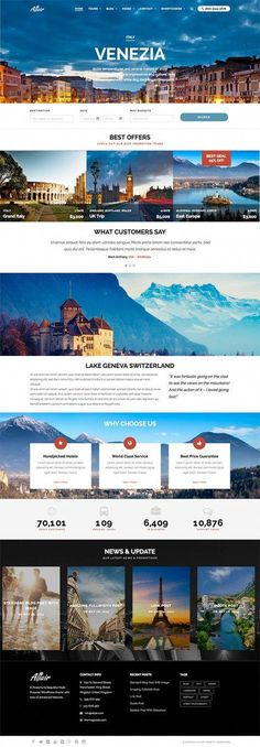 Altair is a classy travel and vacation style premium WordPress theme just perfect for creating travel agency, tour guide or booking websites. - WPExplorer Analisamos os 150 Melhores Templates WordPress e colocamos tudo neste E-Book dividido por 15 categor Design Web, Design Sites, Logo Design, Design Services, Travel Agency Website, Travel Website Design, Travel Design, Website Layout, Web Layout