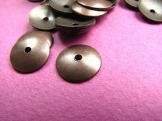 8 mm Dome Circle with One Hole Antique by Turkeysupply http://etsy.me/1B6TG8V #jewelry #ring #mount #brass #jewel #gem #bezel #setting