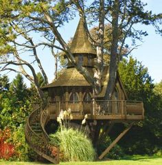 Wonderful Tree House Photo. - Bilder Land