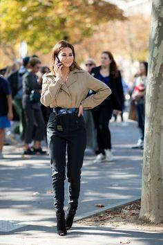 #ChristineCentenera effortlessly chic LV combo. Paris