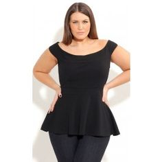 This year's hottest trend is here! True to style, this peplum top cinches at the waist and frills out to create gorgeous hourglass curves! With thick straps which sit off the shoulder, this top will have you feeling girly and glamorous!