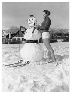 One Kings Lane - Chalet Chic - Esther On Snow 1951