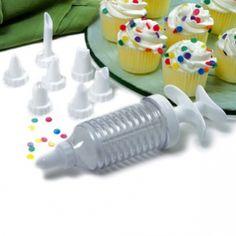 9 PC CUPCAKE INJECTOR/DECORATING ICING SET http://www.coast2coastkitchen.com/store/baking/9-pc-cupcake-injectordecorating-icing-set-