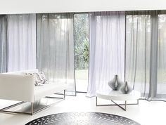 Modern Upholstery Fabrics For Furniture And Curtains Of Chivasso Thick Curtains, Elegant Curtains, Modern Curtains, Bifold French Doors, Modern Upholstery Fabric, House Extension Design, Curtains Living, White Furniture, Sofa Design