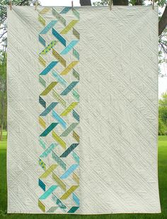 Diamond Tread quilt by freshlypieced, via Flickr -- Straight line quilting is very effective!
