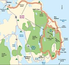 This is the official Schoodic Peninsula map in Acadia National Park